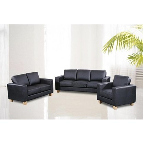 Chesterfield Pu Leather 3 Seater Sofa