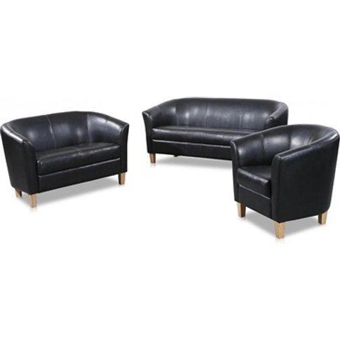 Claridon Pu Leather 3 Seater Sofa