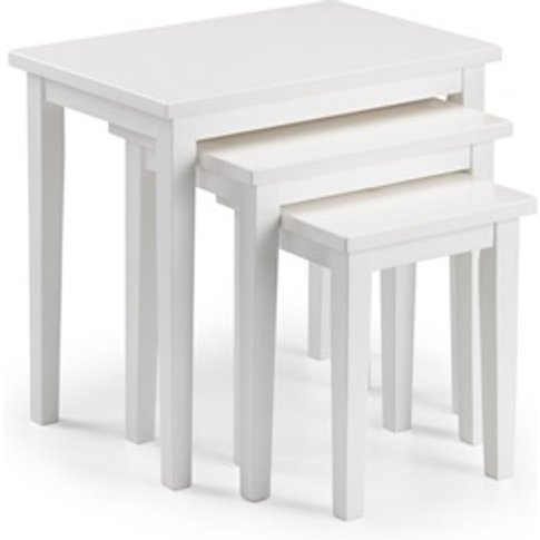 Cleo Nest Of Tables - Pure White Finish