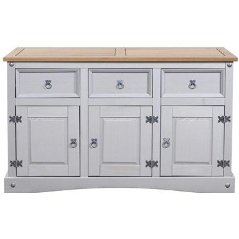 Corona Grey Sideboard 3 Doors 3 Draws