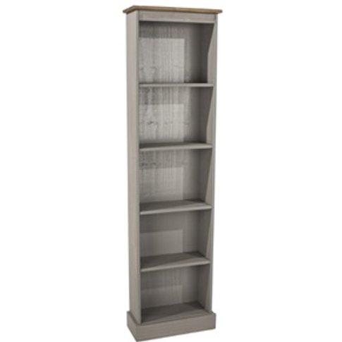 Corona Grey Tall Narrow Bookcases