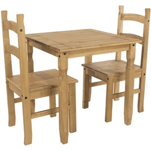 Corona Square Dining Table And 2 Chair Set