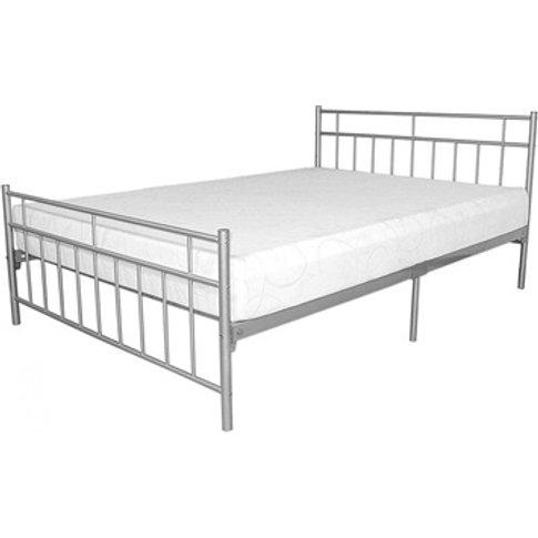 Davina Metal Bed Silver