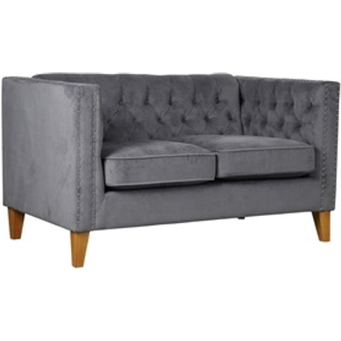 Florence Medium Sofa Grey Velvet