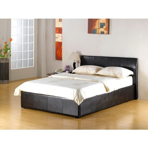 Fusion Storage Bed Faux Leather