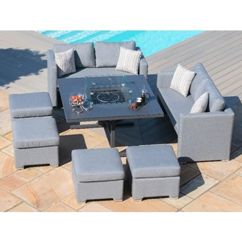 Fuzion Sofa Cube Set With Fire Pit