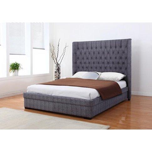 Genesis Linen Bed In Dark Grey