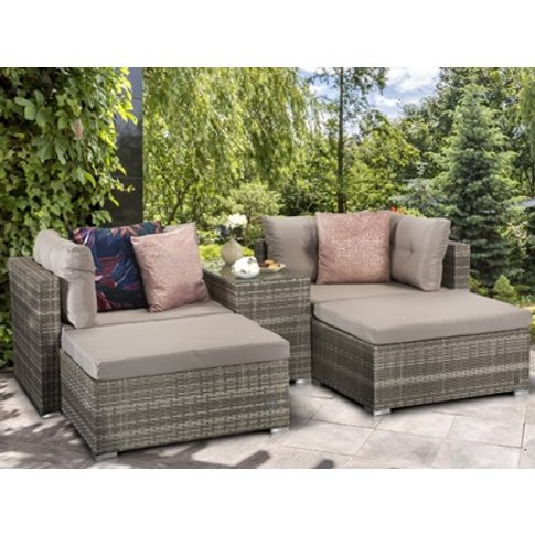 Harper Stackable Sofa Set - 8mm Flat Grey Weave