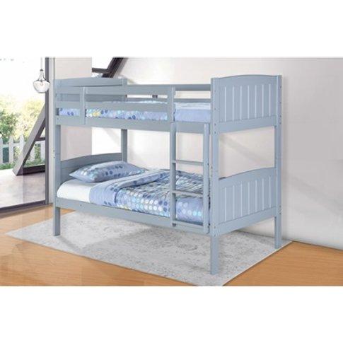 Hayes Solid Wood Bunk Bed Grey
