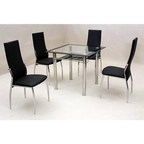 Jazo Dining Table Glass And Chrome