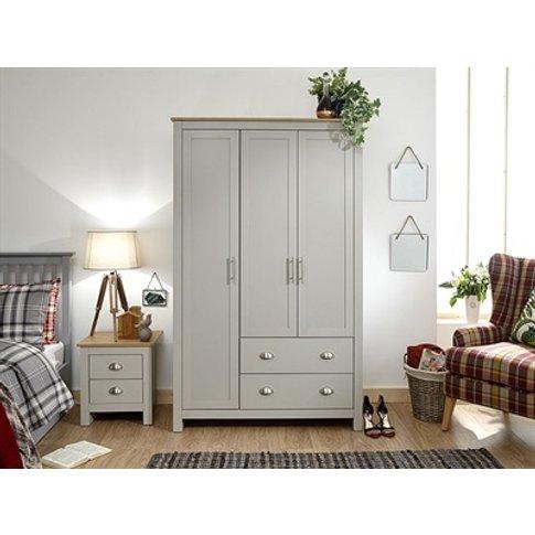 Lancaster 3 Door 2 Drawer Wardrobe