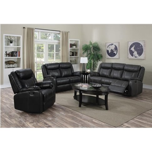 Leeds Recliner Leatherlux And Pu 2 Seater Sofa
