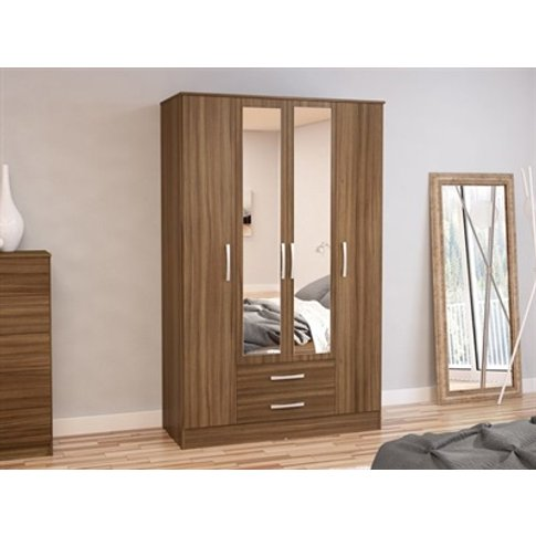 Lynx 4 Door 2 Drawer Wardrobe