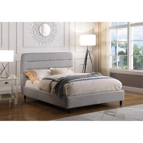 Malibu Velvet Bed Light Grey