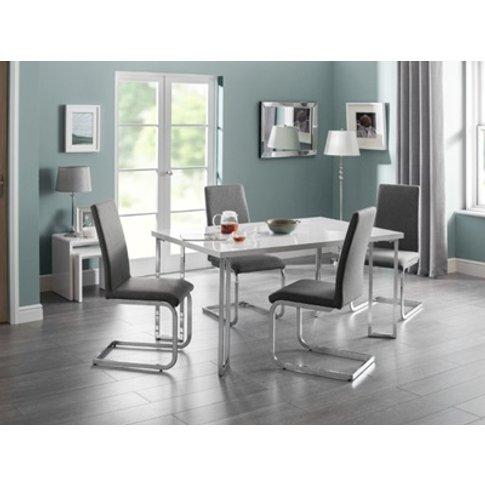 Manhattan Hi Gloss & Chrome Dining Table