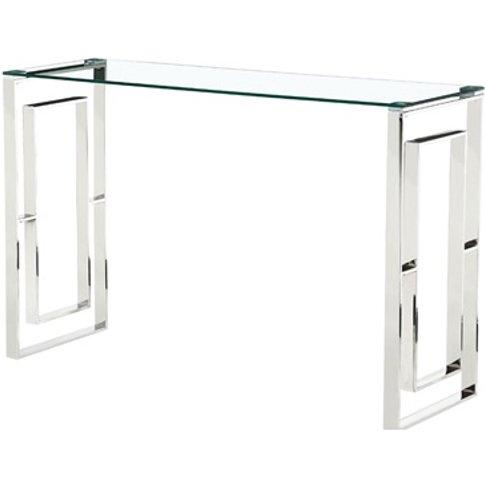 Memphis Glass Console Table