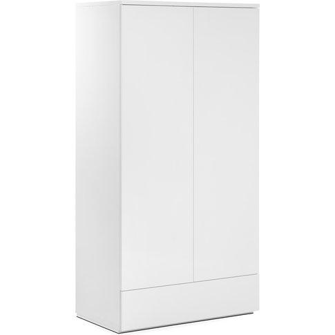 Monaco 2 Door 1 Drawer Wardrobe  - White Gloss