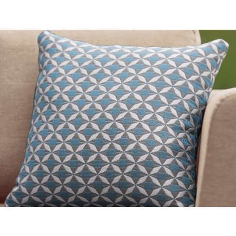 Pair Of Mosaic Blue Scatter Cushions