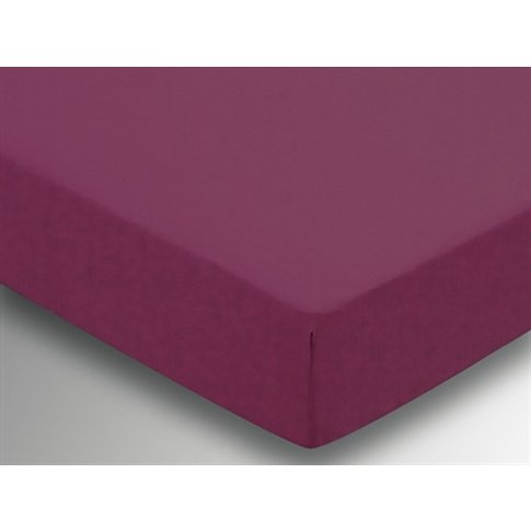 Plain Dye Fitted Sheet - Mulberry