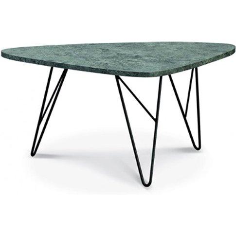 Ontario Coffee Table Stone With Black Metal Legs