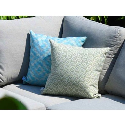 Pair Of Outdoor Scatter Cushion Polines Green