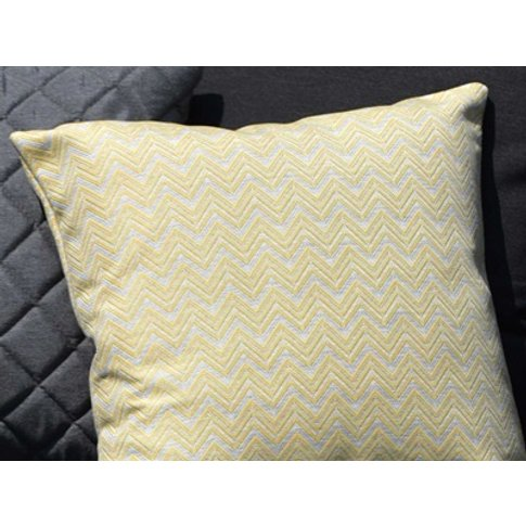 Pair Of Outdoor Scatter Cushion Polines Yellow