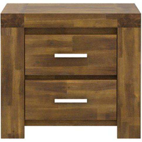 Parkfield Solid Acacia Bedside Table With 2 Drawers
