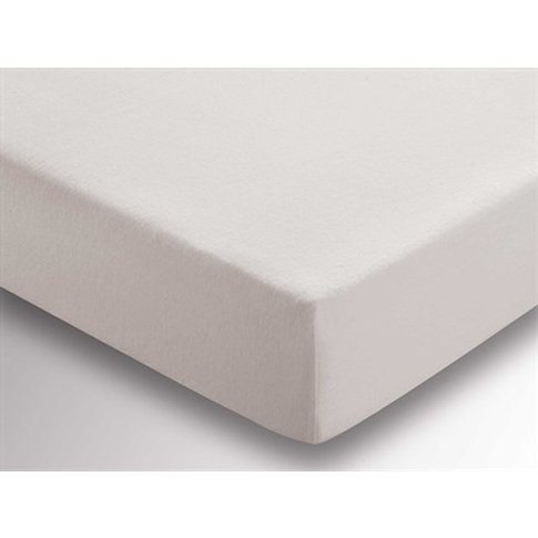 Brushed Cotton Fitted Sheet Platinum