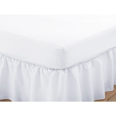 Poetry Bunk White Fitted Sheet