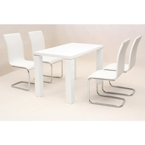 Prague Dining Table High Gloss White
