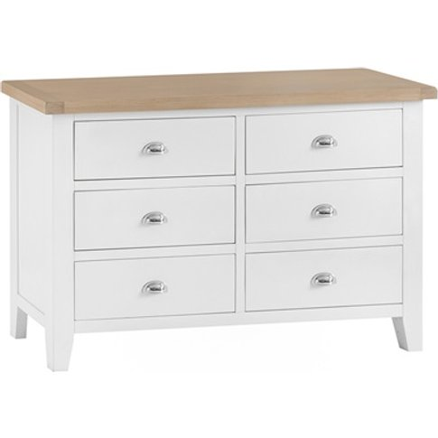 Southwold White 6 Drawer Chest