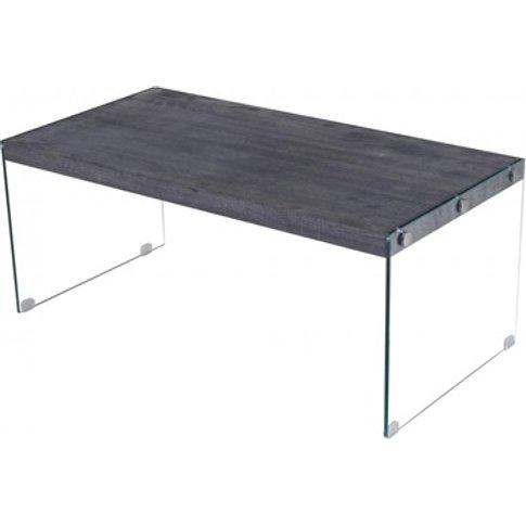 Titan Coffee Table With Glass Sides Black Walnut