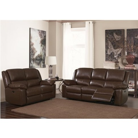 Toledo Recliner Leather And Pvc 2 Seater Sofa