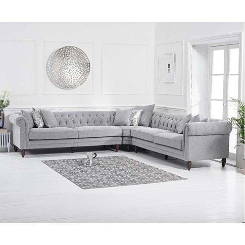 Ex-Display Limoges Grey Linen Corner Sofa