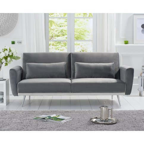 Elena Sofa Bed In Grey Velvet