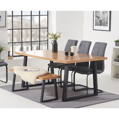 Urban 180cm Dining Table With Liza Antique Dining Ch...