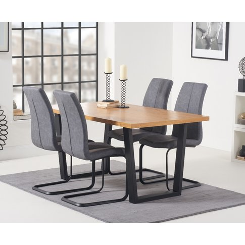 Orangon 160cm Dining Table And Antique Liza Chairs -...