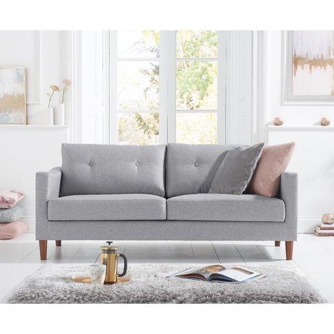 Carla Grey Linen 3 Seater Sofa
