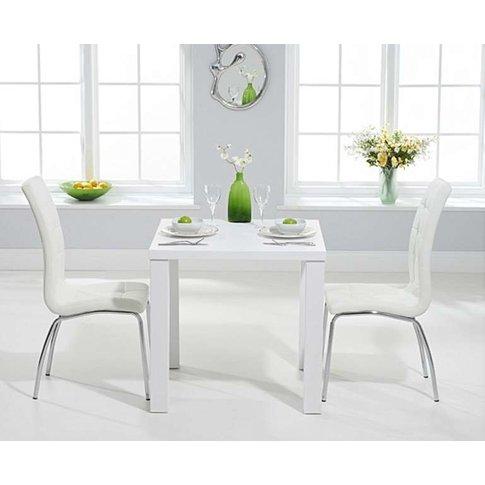 Ex-Display Atlanta 80cm White High Gloss Dining Tabl...