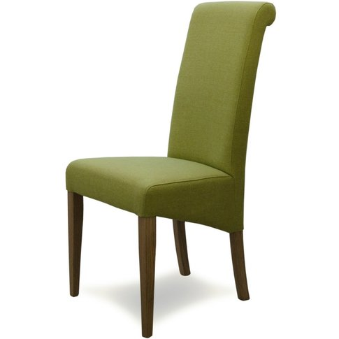 Italia Fabric Bright Green Dining Chairs