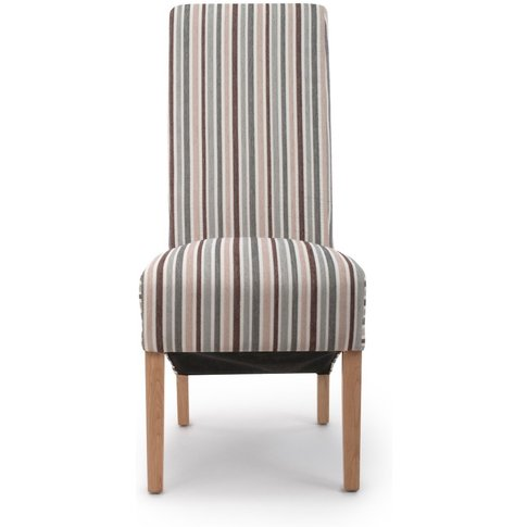 Krista Stripe Fabric Dining Chairs