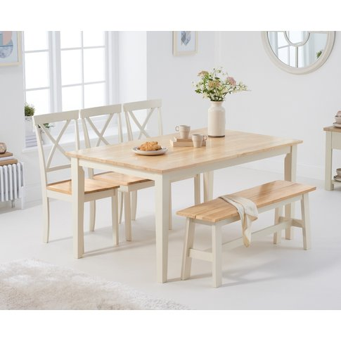 Chiltern 150cm Oak And Cream Table With Epsom Chairs...