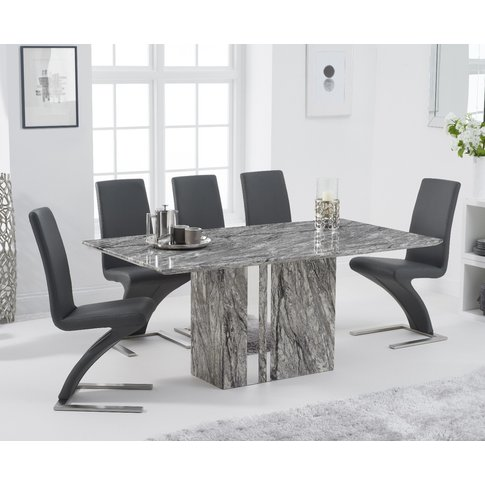 Alicia 180cm Grey Marble Dining Table with Hampstead...