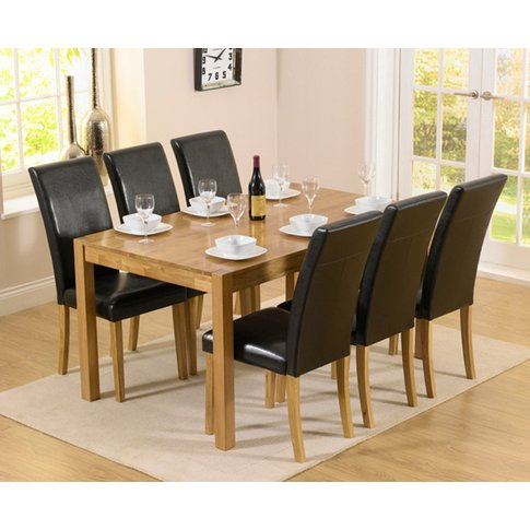 Oxford 150cm Solid Oak Dining Table With Albany Brow...