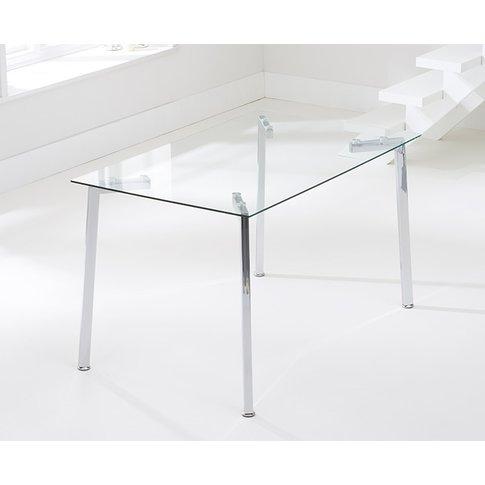 Malia 130cm Glass Dining Table