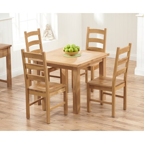Somerset 90cm Flip Top Oak Dining Table With Vermont...