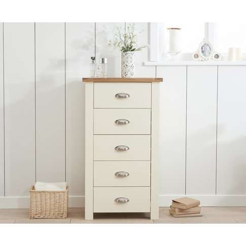 Somerset Oak And Cream 5 Drawer Chest