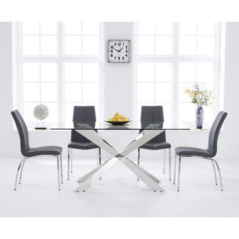 Juniper 160cm Glass Dining Table With Cavello Chairs...