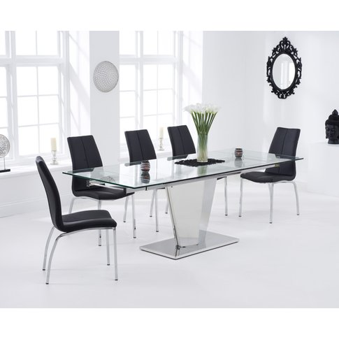 Liberty 160cm Extending Glass Dining Table With Cave...