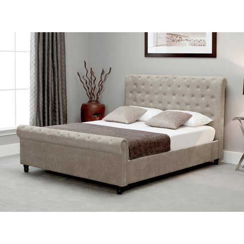 Bicester Stone Fabric Super King Size Bed